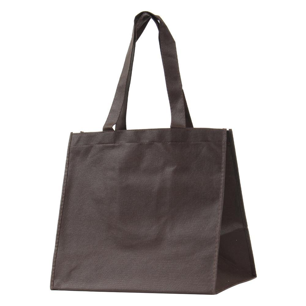 【代引き・同梱不可】パックタケヤマ 手提袋 SFバッグ ブラウンM 10枚ポリ×10束 XZV90715紙袋