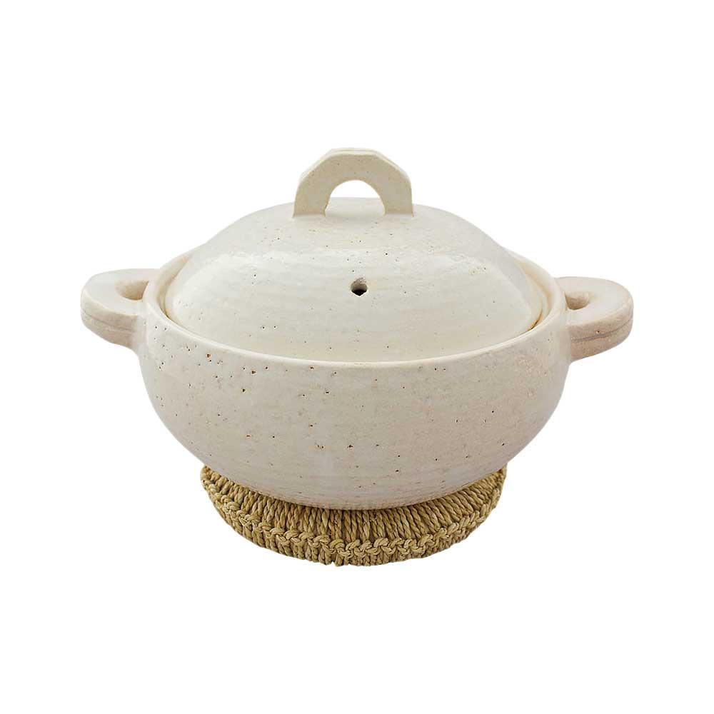【代引き・同梱不可】長谷園 多用鍋「コトコト」シロ 15773