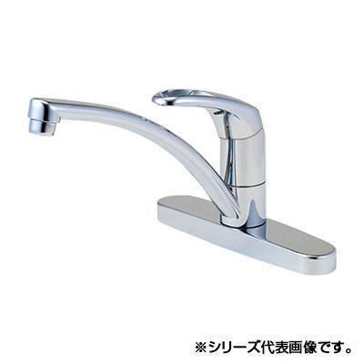 【代引き・同梱不可】三栄 SANEI Modello シングル台付混合栓 寒冷地用 K676K-13