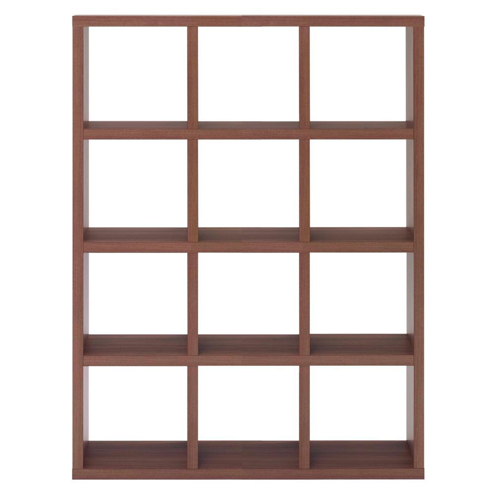 【代引き・同梱不可】フナモコ FREEDOM フリーダム 両面シェルフ リアルウォールナット RSD-430飾り棚 ラック 棚