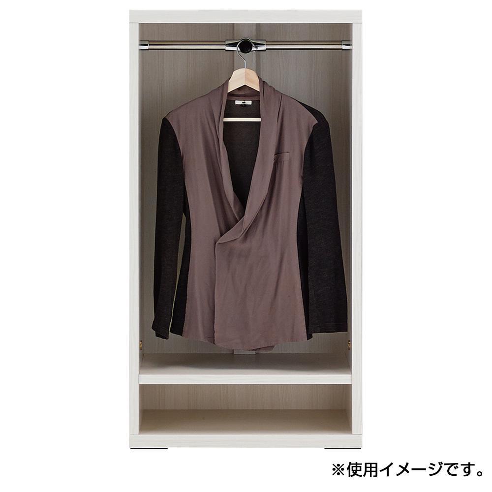 【代引き・同梱不可】フナモコ リビングシェルフ 洋服オープン ホワイトウッド LCS-60収納 衣類収納 ラック