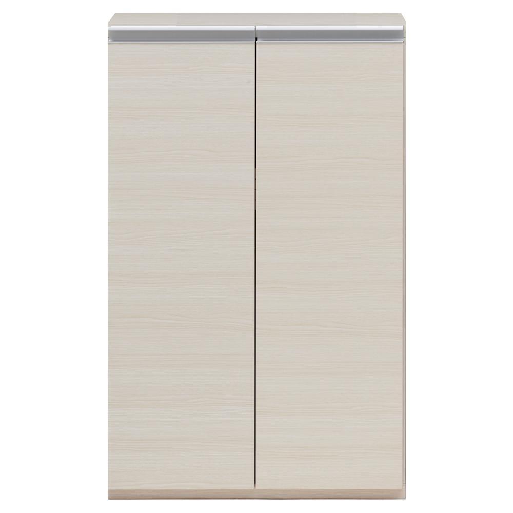 【代引き・同梱不可】収納棚 戸棚 ホワイトウッド ECS-60Lマルチラック 多目的ラック 扉付き