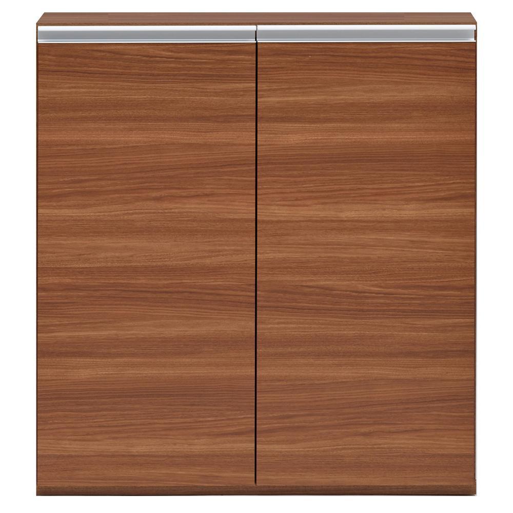【代引き・同梱不可】収納棚 戸棚 リアルウォールナット ECD-90L扉付き ブラウン ラック
