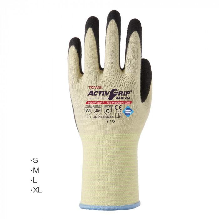 【代引き・同梱不可】東和コーポレーション(TOWA) ゴム手袋 アクティブグリップATA 12双 534