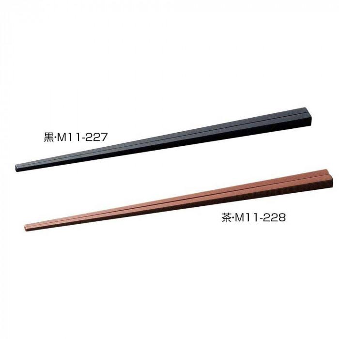 【代引き・同梱不可】マイン(MIN) SPS箸 エンボス四角 23cm 100膳入