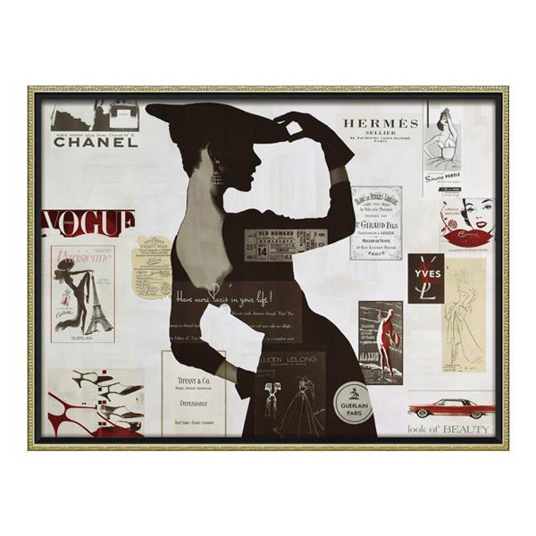 【代引き・同梱不可】ユーパワー オマージュ キャンバスアート 「ハイファッション2(Lサイズ)」 BC-18018