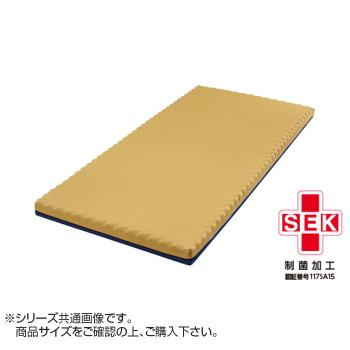 【代引き・同梱不可】ヴィスコフロート プロファイルマットレス(83cm幅)83×191×8cm ネイビー×ベージュカバー
