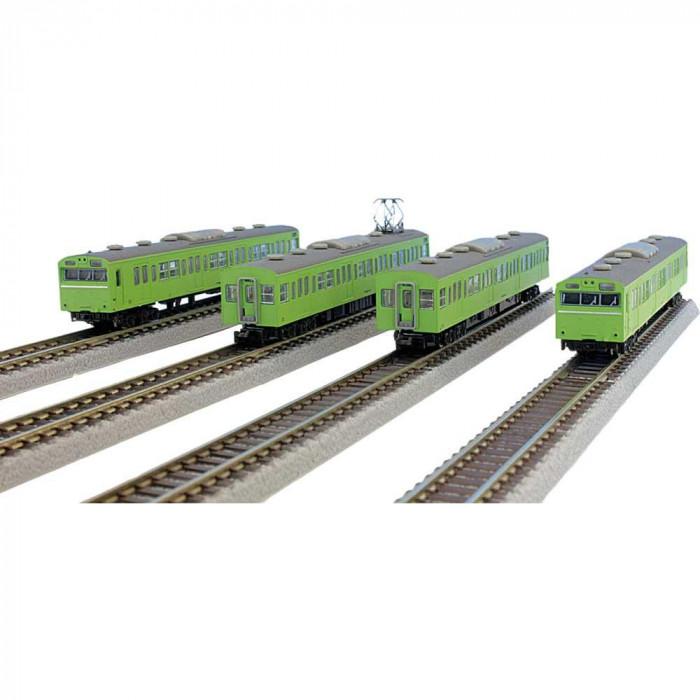 【代引き・同梱不可】国鉄103系 ウグイス 山手線タイプ 基本4両セット T022-5