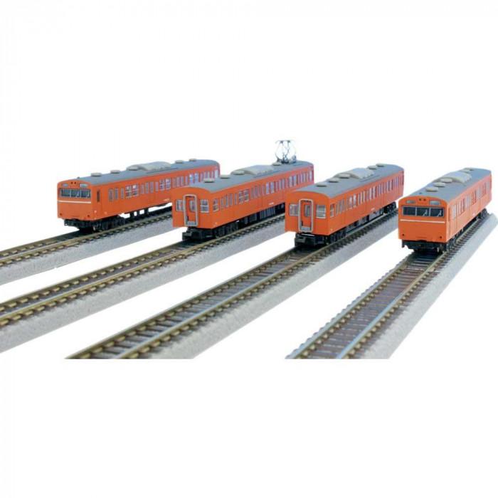 【代引き・同梱不可】国鉄103系 オレンジ 中央線タイプ 基本4両セット T022-7