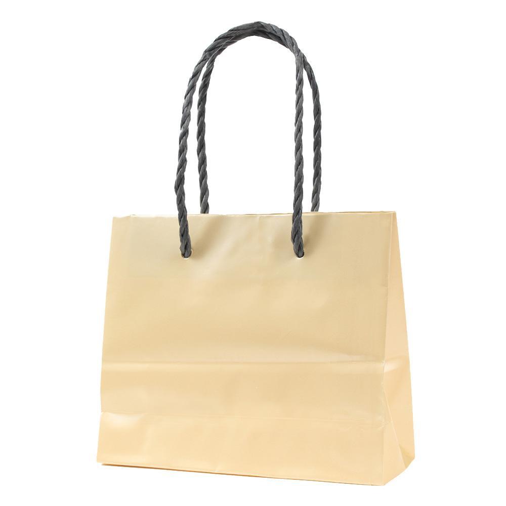 【代引き・同梱不可】パックタケヤマ 手提袋 ミニ クリーム 20枚×10包 XZT00578紙袋