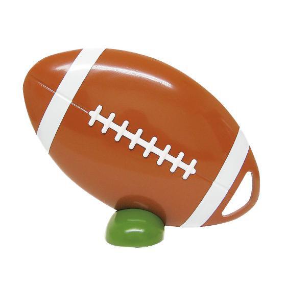 【代引き・同梱不可】ビッグウエディングスプーン 趣味のシリーズ ラグビーボール型スプーン 茶 飾り台付