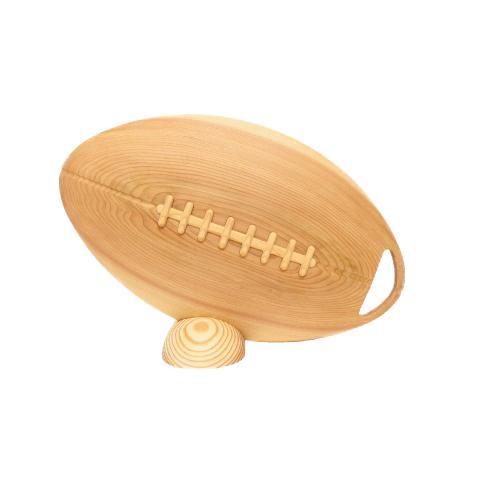 【代引き・同梱不可】ビッグウエディングスプーン 趣味のシリーズ ラグビーボール型スプーン 木目 飾り台付