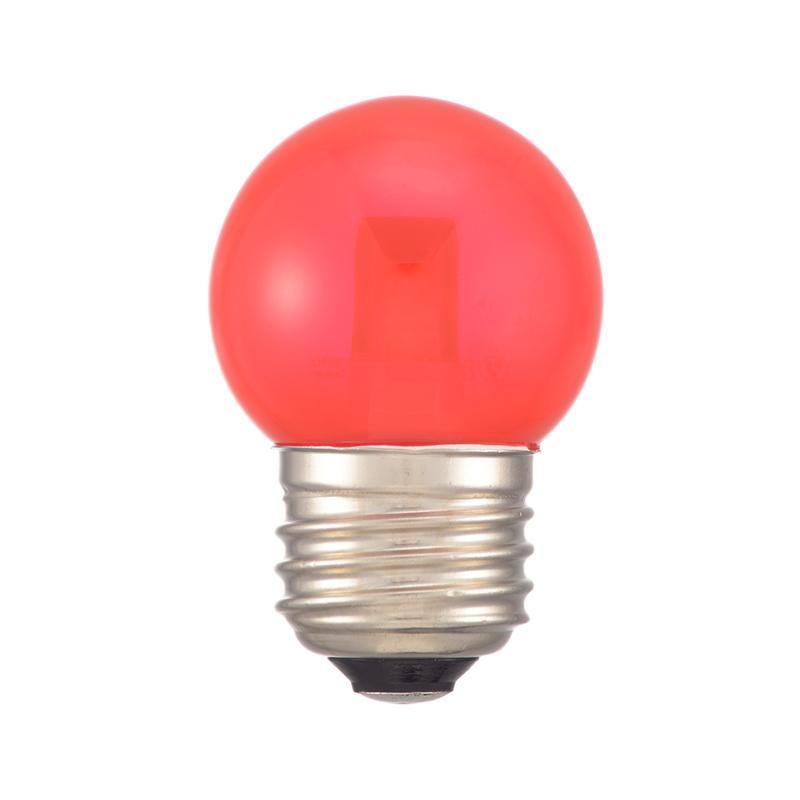 DECO MAISON デコメゾンは SHOP OF THE MONTH 2019年12月 月間MVP受賞 レビュー投稿で次回使えるお得なクーポンプレゼント 代引き 期間限定特別価格 10lm LDG1R-H LEDミニボール球装飾用 1.4W E26 直送商品 同梱不可 13C クリア赤色 OHM G40