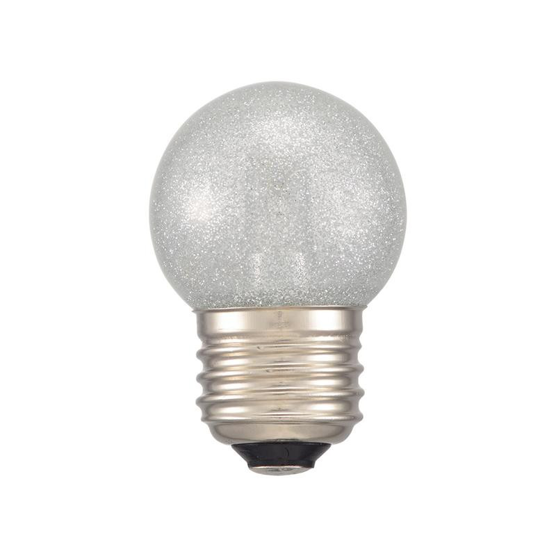 DECO MAISON デコメゾンは SHOP OF 現金特価 THE MONTH 2019年12月 月間MVP受賞 レビュー投稿で次回使えるお得なクーポンプレゼント 代引き 同梱不可 LDG1N-H 色 LEDミニボール球装飾用 55lm OHM 銀 G40 13S E26 おすすめ特集 1.4W 昼白