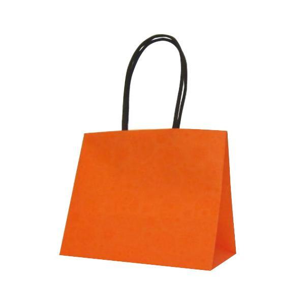 【代引き・同梱不可】ハンディーバッグ テミニン 紙袋 180×100×150mm 100枚 オレンジ 1470ギフト用 お店 紙手提げ袋