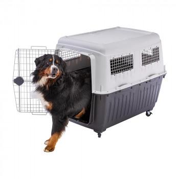 【代引き・同梱不可】ファープラスト アトラス 80 犬・猫用キャリー グレー 73060021