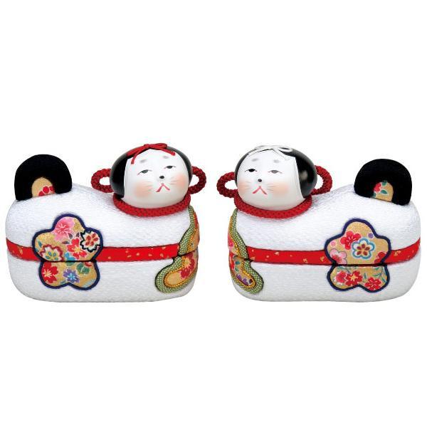 【代引き・同梱不可】01-799 木目込み人形 お伽犬 セット