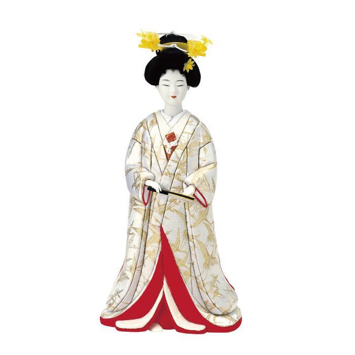 【代引き・同梱不可】01-147 木目込み人形 花嫁 セット