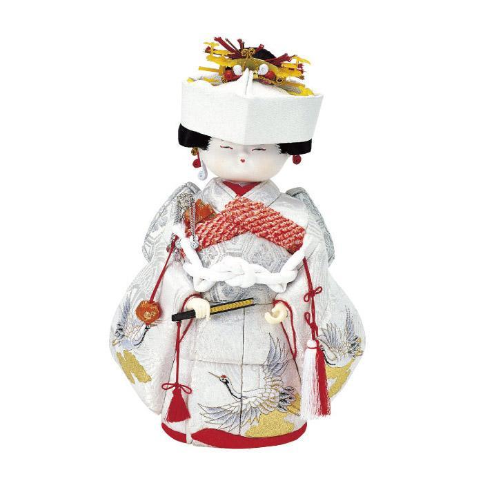 【代引き・同梱不可】01-279 木目込み人形 花嫁さん セット