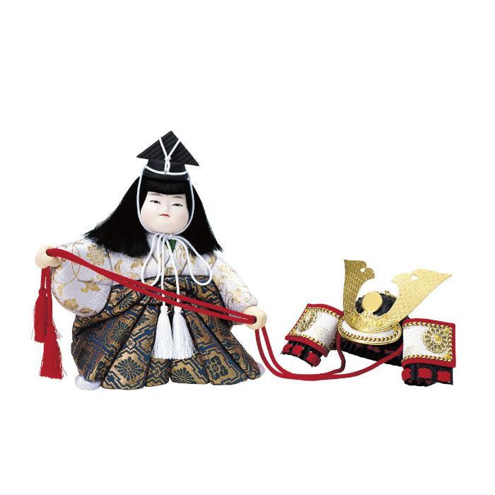 【代引き・同梱不可】01-503 木目込み人形 兜曳き(4号) セット