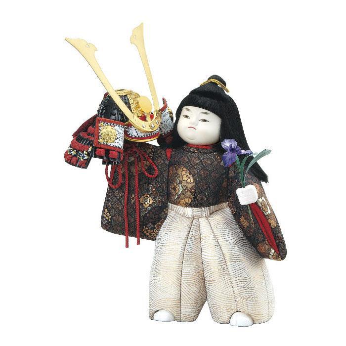 【代引き・同梱不可】01-502 木目込み人形 兜差し セット