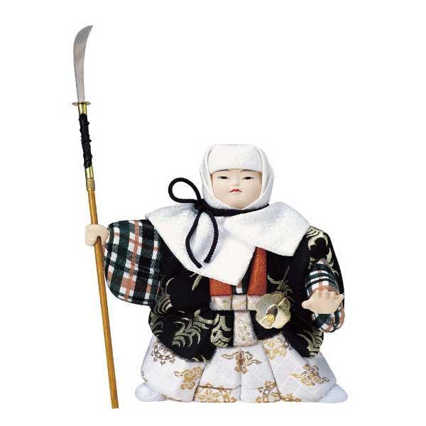 【代引き・同梱不可】01-177 木目込み人形 橋弁慶 セット