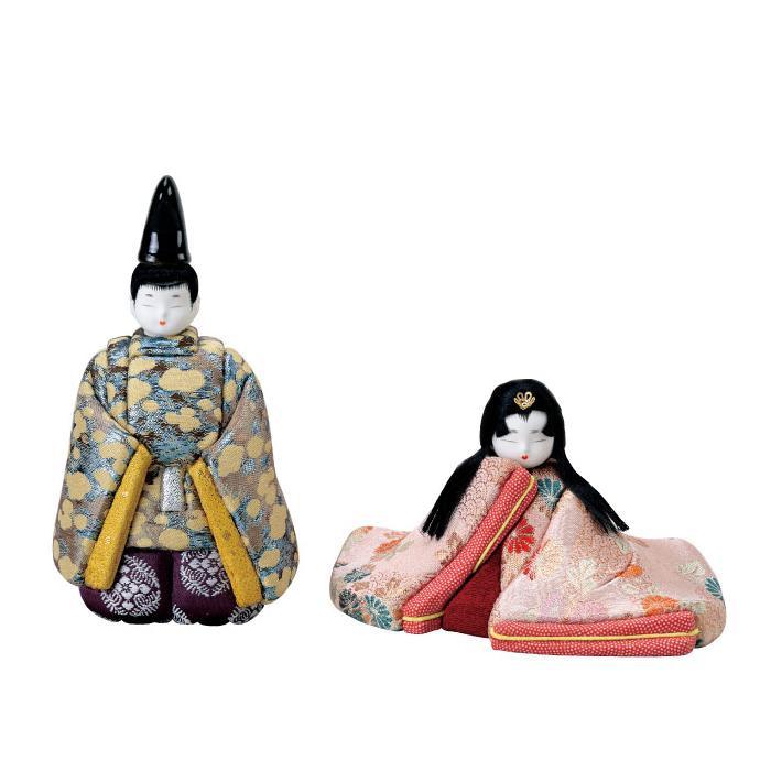 【代引き・同梱不可】01-582 木目込み人形 源氏雛 セット