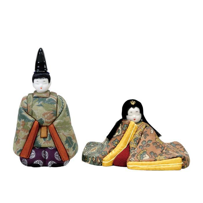 【代引き・同梱不可】01-480 木目込み人形 源氏雛(正絹) セット