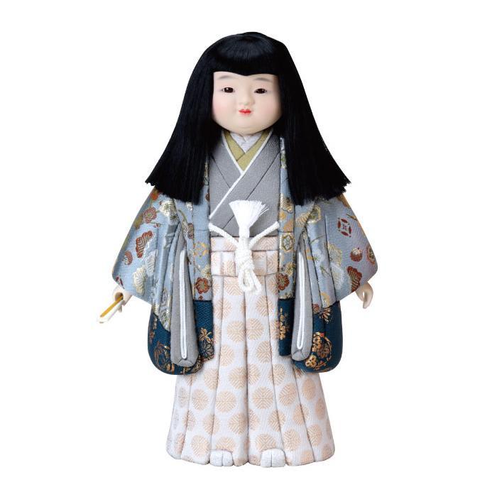 【代引き・同梱不可】01-228 木目込み人形 御所市松(男) セット