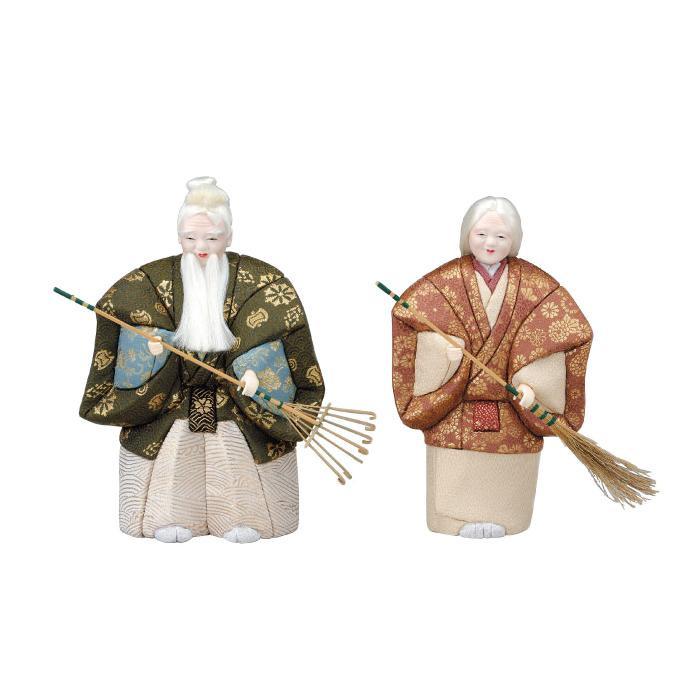 【代引き・同梱不可】01-419 木目込み人形 高砂(能風) セット