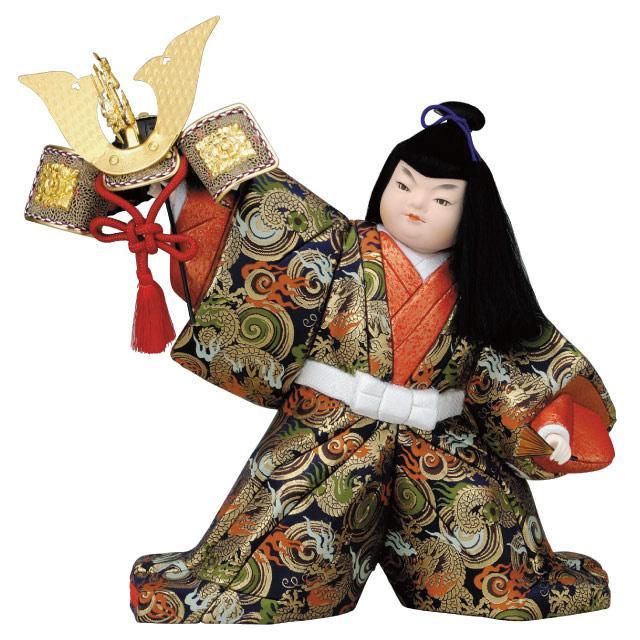 【代引き・同梱不可】01-510 木目込み人形 出世兜 セット