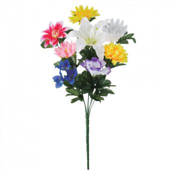 【代引き・同梱不可】アーティフィシャルフラワー 盆花ブッシュ ミックス 12本セット FD3297 アレンジメント