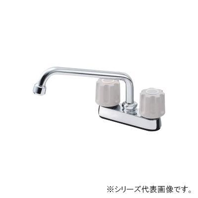 【代引き・同梱不可】三栄 SANEI U-MIX ツーバルブ台付混合栓 K711-LH-13