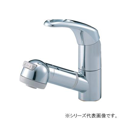 【代引き・同梱不可】三栄 SANEI Modello シングルスプレー混合栓(洗髪用) K3763JV-C-13