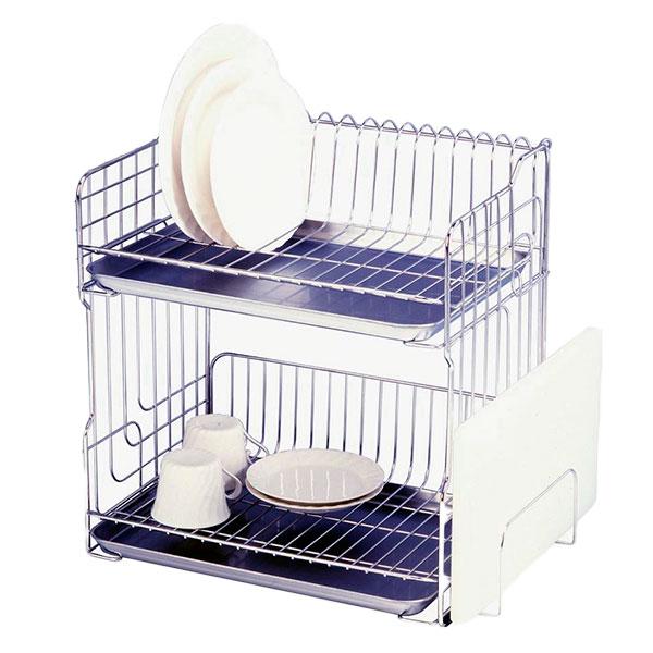 【代引き・同梱不可】水切りカゴ2段さび キッチン シンプル
