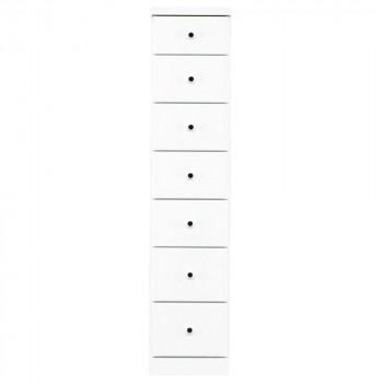 【代引き・同梱不可】ソピア サイズが豊富なすきま収納チェスト ホワイト色 7段 幅30cm