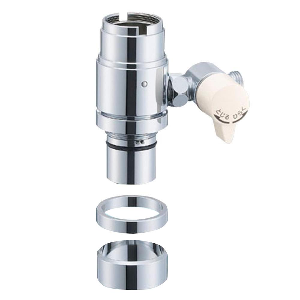 【代引き・同梱不可】三栄水栓 SANEI シングル混合栓用分岐アダプター INAX用 B98-2B