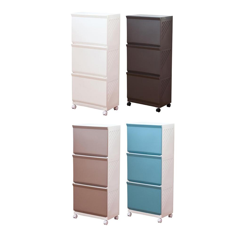 【代引き・同梱不可】ランドリーボックス Clevan 3段3段 収納ボックス 洗濯かご