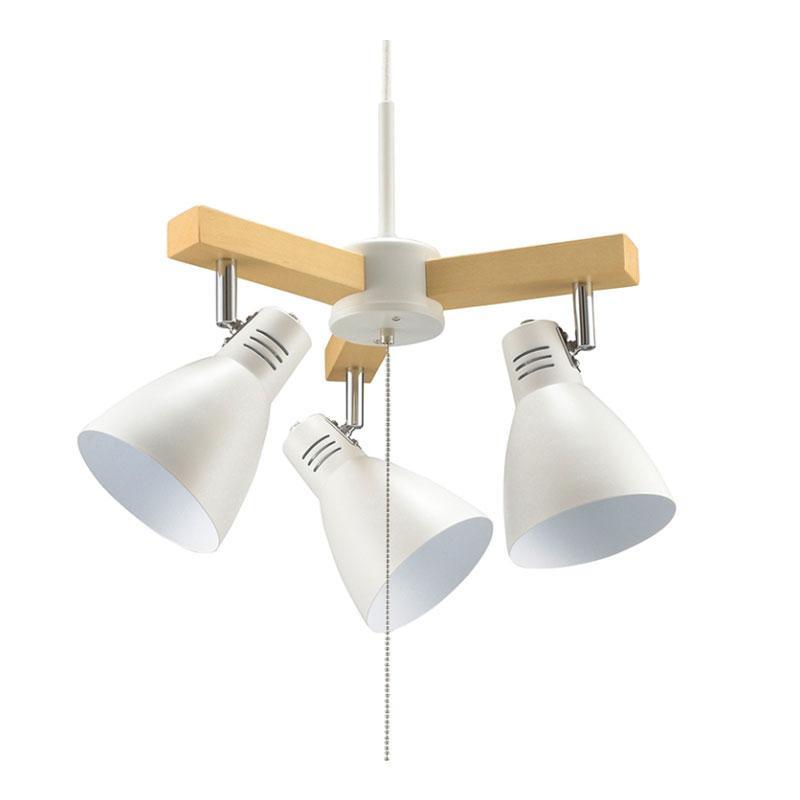 【代引き・同梱不可】OHM 3灯ペンダントライト LED電球付 ホワイト LT-YY30AW-W