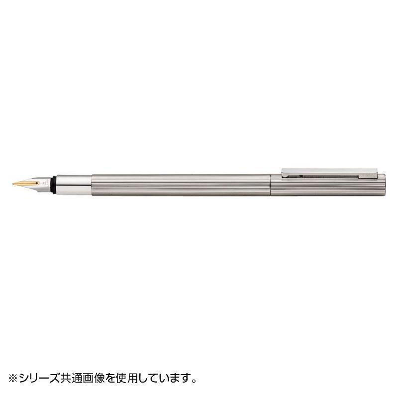 【代引き・同梱不可】ラミー cp1プラチナコート 万年筆(M) 14金ペン先プラチナ仕上げ L53-M