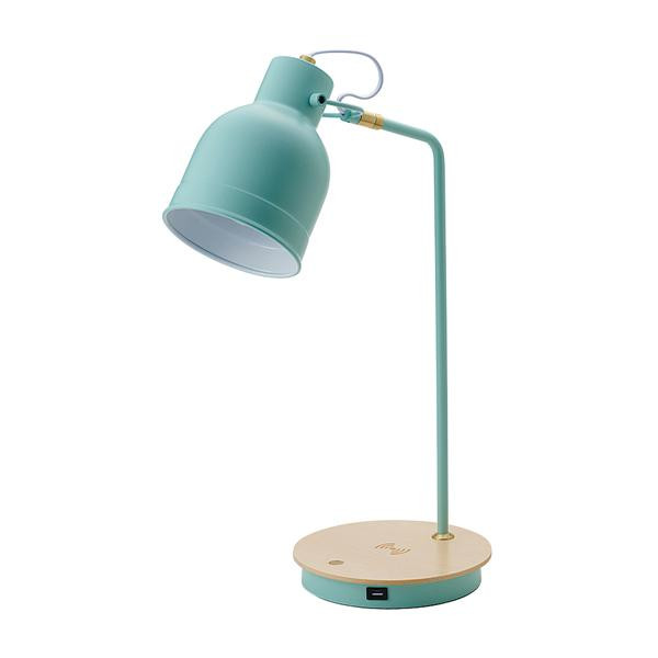 【代引き・同梱不可】LEDテーブルタッチランプ ワイヤレス充電機能付 BU 20933