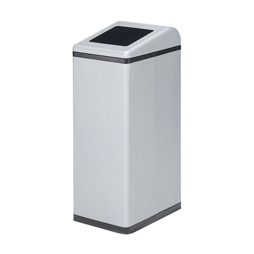 【代引き・同梱不可】ぶんぶく リサイクルトラッシュ Bライン 一般ゴミ用 OSL-35 シルバーメタリック