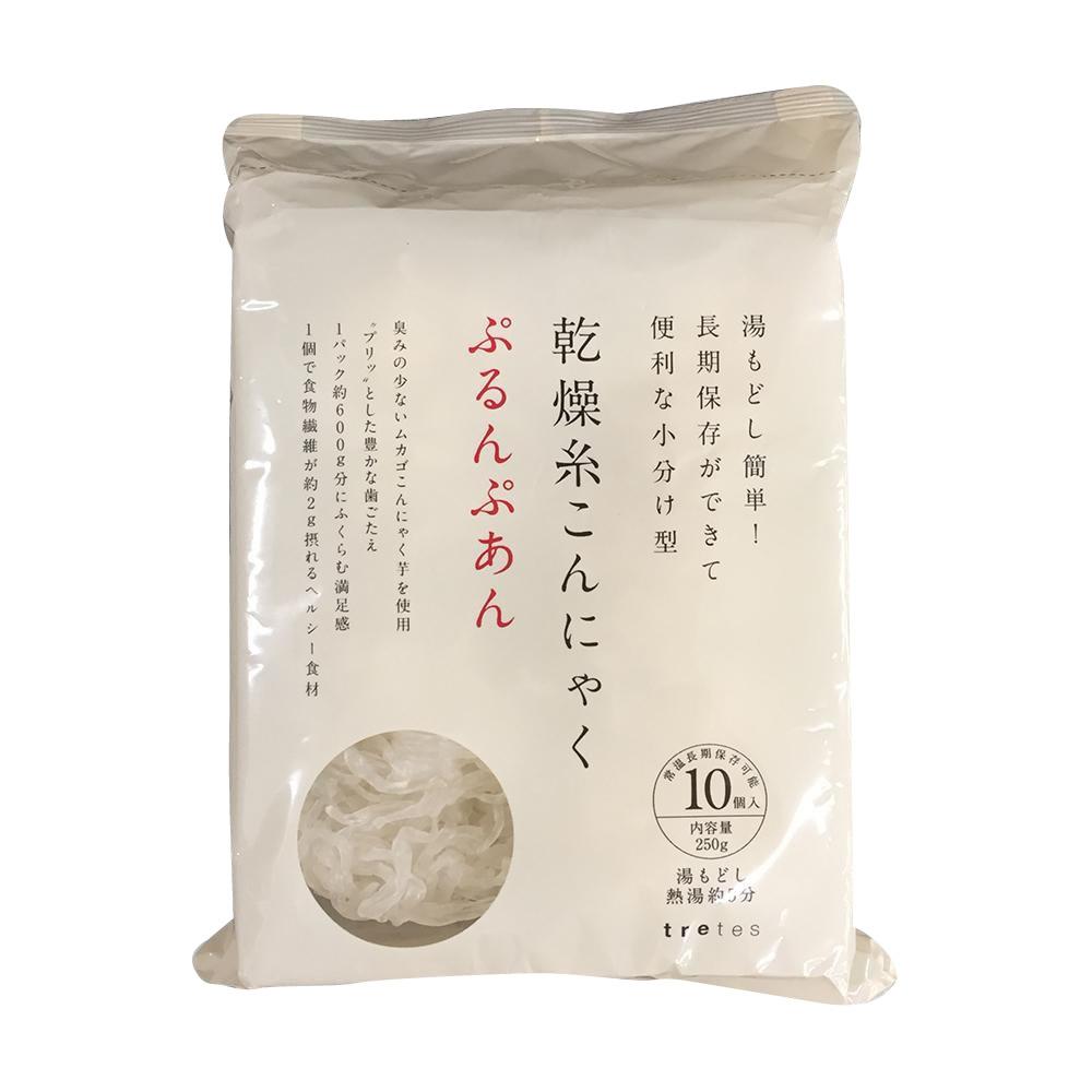 【代引き・同梱不可】乾燥糸こんにゃく ぷるんぷあん250g(25g×10個入)×20袋肉じゃが 蒟蒻 和食