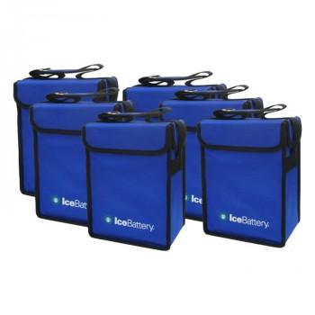 【代引き・同梱不可】IceBattery アイスバッテリー 保冷剤付縦型バッグ 6個セット IB-VERTICALBOX-6P 3865888試合 ピクニック クーラーボックス