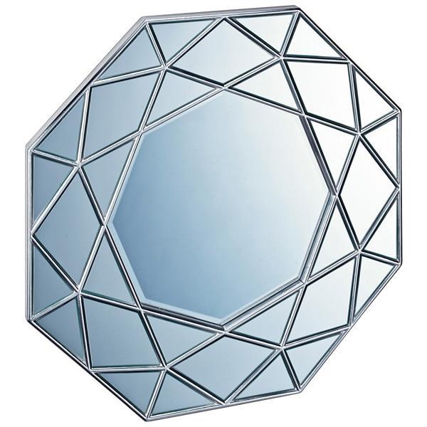 【代引き・同梱不可】ユーパワー ダイヤモンド アート ミラー アンティークシルバー DM-25002