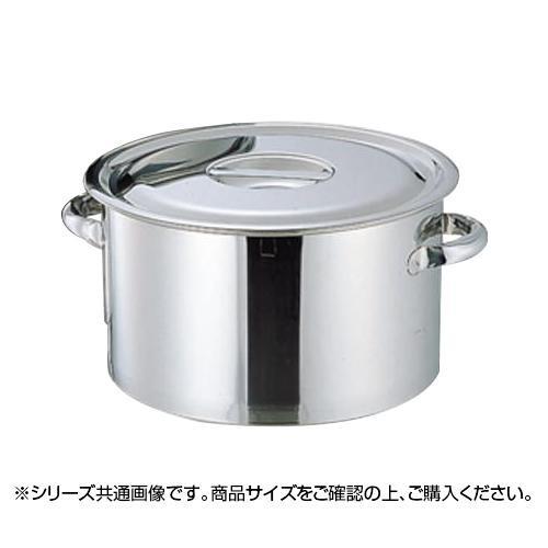 【代引き・同梱不可】18-8 厚底半寸胴鍋 目盛付 36cm 026009-004