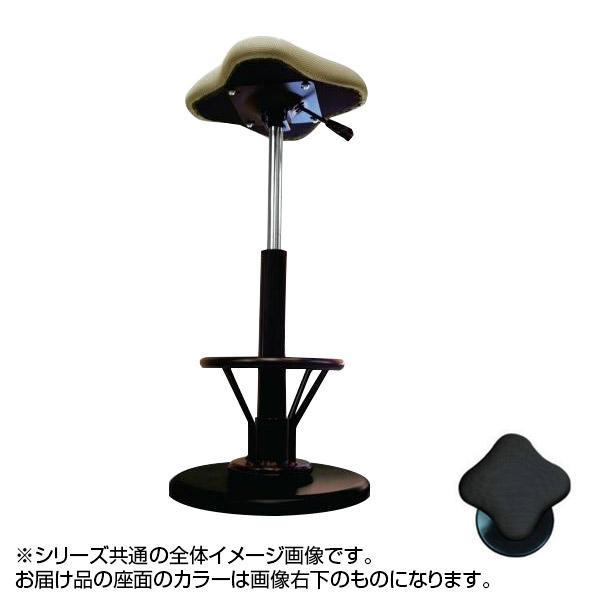 【代引き・同梱不可】ツイストスツールラフレシアKモーR (フットレスト付き) ブラック/ブラック TWS-240R