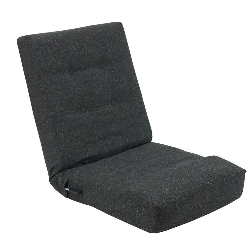 【代引き・同梱不可】レバー式1人掛け座椅子ネップ ブラック