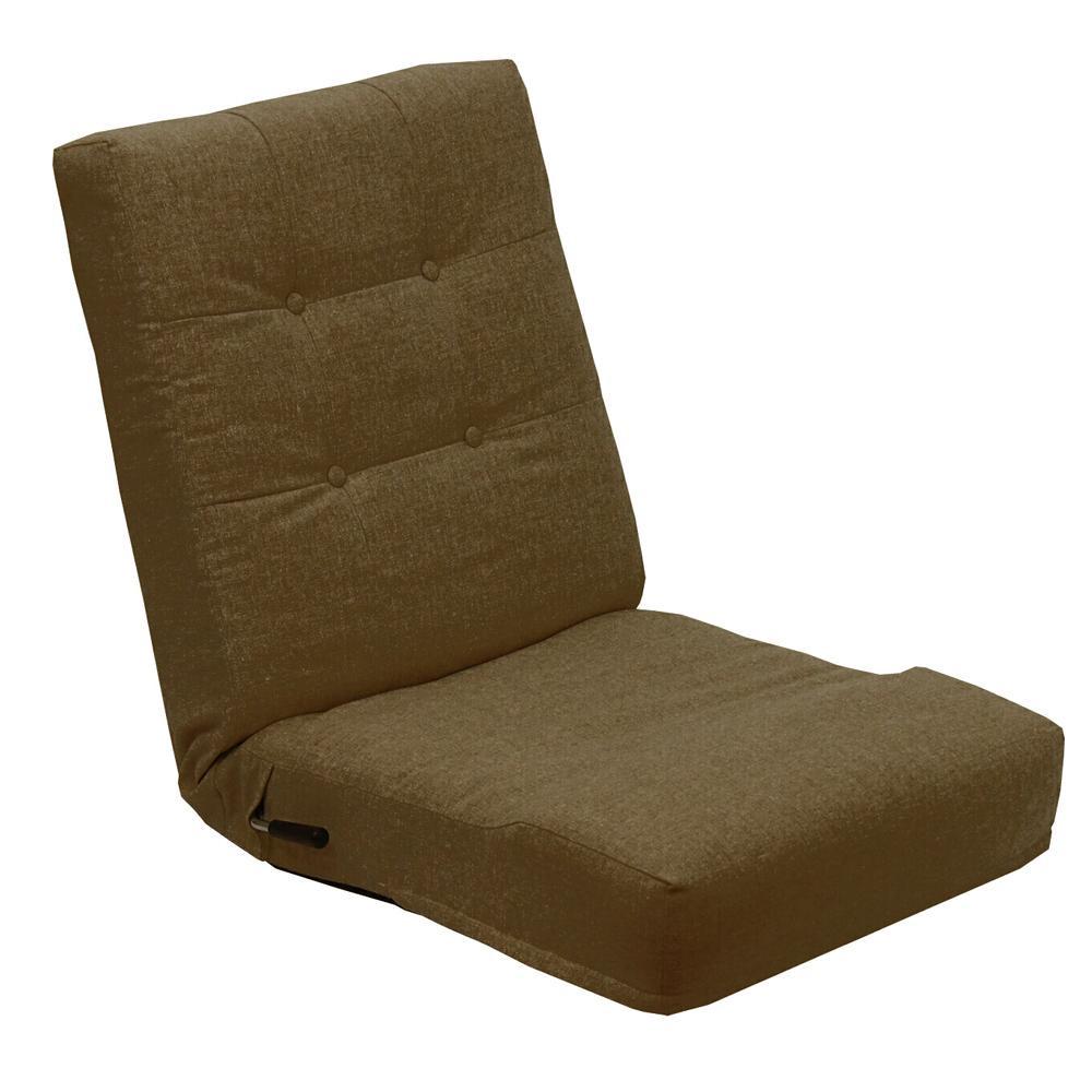 【代引き・同梱不可】レバー式1人掛け座椅子ネップ ブラウン