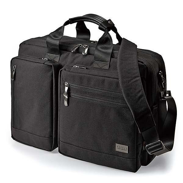 【代引き・同梱不可】BAGGEX コマンドブリーフ3WAYL 23-5604 ブラック
